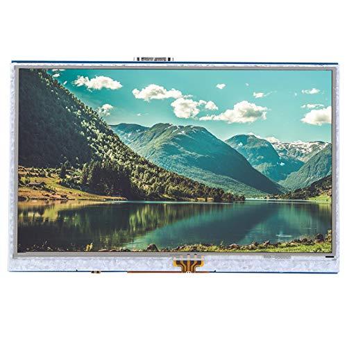 FTVOGUE Monitor HDMI de Pantalla de 5 Pulgadas LCD Monitor de Pantalla táctil Raspberry Pi táctil resistivo de 4 Cables para Raspberry Pi 3B + / 4B