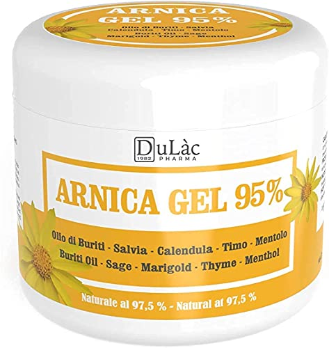 Arnica Gel 95% - 500 ml - Soother with Arnica Montana, Buriti Oil, Sage and Calendula extracts, Thyme and Menthol Essential Oils - Natural at 97,5%