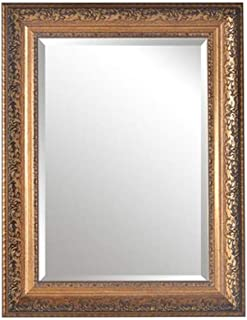 WXP Shabby Chic Wall Mirror Large Vintage Style Mirror Rectangle Framed for Living Room Hallway (Color : B, Size : 50 * 70cm)
