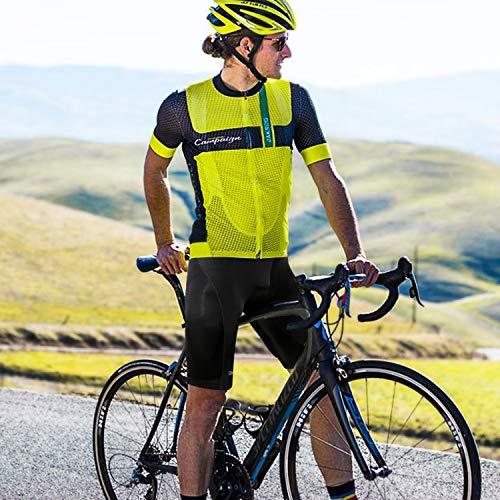 GRAT.UNIC Radlerhose, Herren Fahrradhose kurz mit Sitzpolster 9D, Fahrradhose schnelltrockende, Atmungsaktiv Kurze Hosen, Elastische Radhose (Schwarz, M) - 6