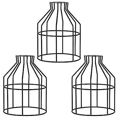 Vintage Metal Bulb Guard Lamp Cage for Hanging Pendant Light Fixture,Lamp Holder,Ceiling Fan Light Bulb Covers,Industrial DIY Lighting Farmhouse Loft(3 Packs)