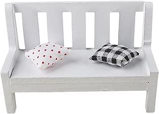 Shellvcase Miniature Dollhouse, Exquisite Simple Mini Wooden Bench Dollhouse Garden Home DIY Decor Gift