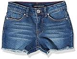 Calvin Klein Girls Cut-Off Denim Short, Boyfriend Authentic S20, 14