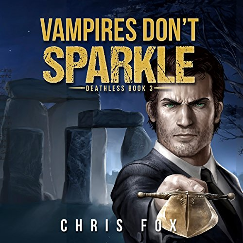 Vampires Don't Sparkle audiobook cover art