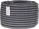 """HOLZBRINK Teichschlauch 25 mm (1"""") Spiralschlauch PVC Saugschlauch verstärkt, Länge: 15 m, HVS-02-15"""
