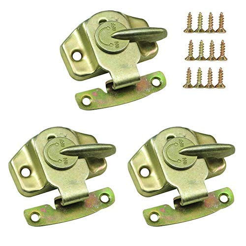 Mazaashop Metal Table Locks Dining Training Table Buckles Connectors Table Leaf Hardware Accessories Iron Color-zinc Plating 3PCS