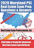 2020 Maryland PSI Real Estate Exam Prep Questions and Answers: Study Guide to Passing the Salesperson Real Estate License Exam Effortlessly