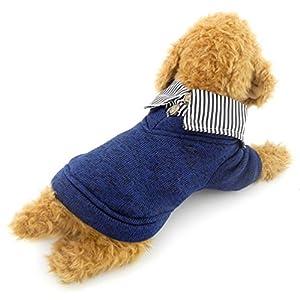 SELMAI Chien Polaire Pull Pull en Tricot Classique Pull Chemise à Capuche pour Les Petits Chiens Chats Manteau d'hiver coréen avec Chemise col Chihuahuas Yorkie