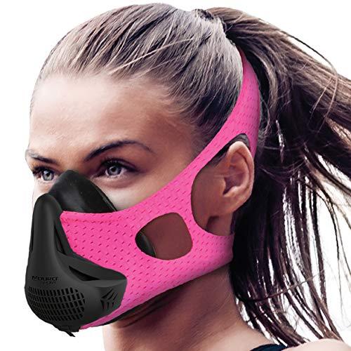 Aduro Sport High Altitude Training Mask Cardio Training Sports Mask Running Mask Breathing Training Workout Masks for Men Breathing Exercise Device Pink