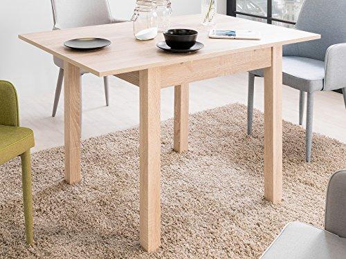 möbelando Esszimmertisch Küchentisch Esstisch Auszugstisch Holztisch Tisch Crawley I Sonoma-Eiche