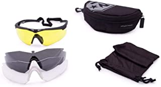 Revision Stingerhawk Military Eye wear Kit With Black Frame Pack of Clear and Smoke Lens