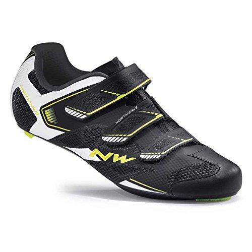 Northwave Sonic 2 Rennrad Fahrrad Schuhe schwarz/weiß/gelb 2017: Größe: 45