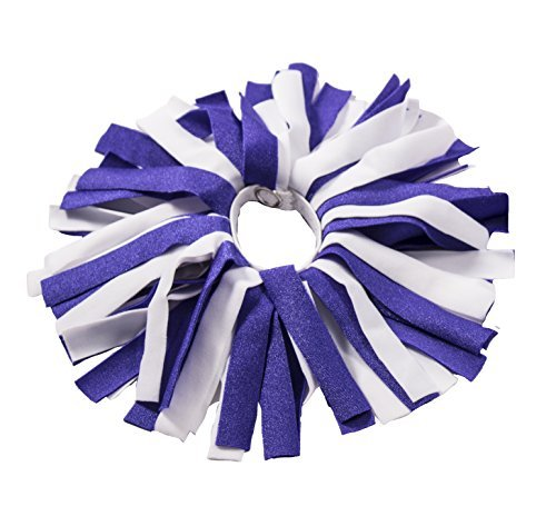 Pomchies ID Pom Keychain, Backpack Tags, Luggage Identifiers + Hair Bows-Color: Something Blue, Shiny Purple/White