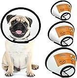 FayTun Cono per Animali Domestici Recupero, Collare Regolabile in ABS per Cani e Gatti e Gatti di Piccola Taglia S (3PCS (S+M+L))