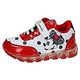 Disney Minnie 2200-2645 Chaussons Sneaker Mixte Enfant, Baskets Mode, Led,...