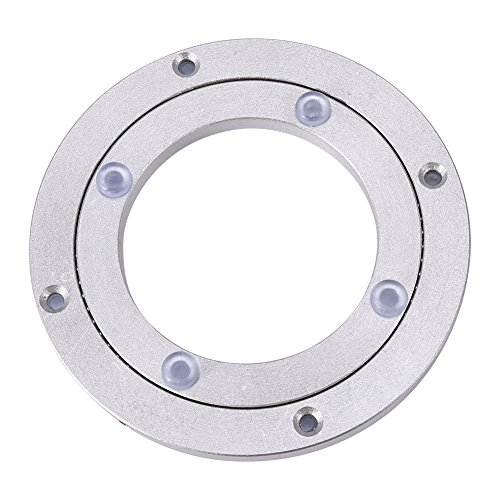 Turntable Serving Plate Cheese Board Aluminum for Dining Table Platform Tray Lazy Susan(4Inch)