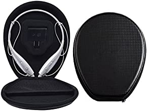 FitSand(TM) Travel Carry Portable Protective Hard Case Cover Bag Pouch Box for LG HV-800 BHS-930 HV-900 HBS-800S EGRD G-Cord Neckband Bluetooth Headphone Headset