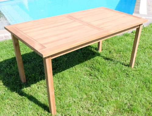 ASS Teak Set: Gartengarnitur Gartentisch 150x80 cm + 1 Bank 150 cm für 3 Personen + 2 Sessel Serie JAV-Alpen - 9
