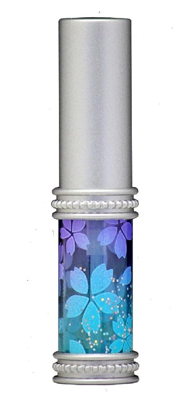 分子聖歌普通のヒロセアトマイザー メタルラメさくらアトマイザー 16178 PU/BL(メタルラメさくら パープル/ブルー) 真鍮玉レット飾り付