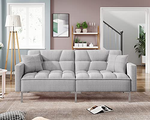 """74"""" Sleeper Sofa Couches and Sofas - Couch Recliner Convertible Sofa Modern Adjustable Futon Couches Sofas Bed for Living Room Fold Up and Down Recliner Couch"""