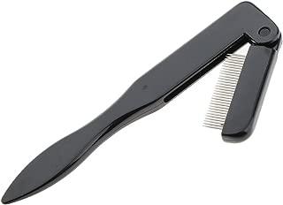 MagiDeal Stainless Steel Teeth Folding Eyelash Comb Eyebrow Shaper Brush Beauty Tools