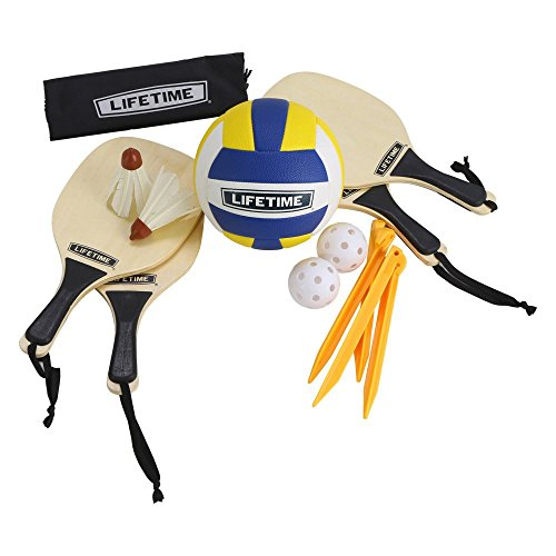 Lifetime 90541 Volleyball, Paddle Badminton, & Pickleball Set