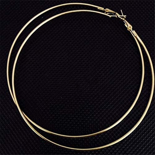 10 cm eenvoudig modieus design vrouwen grote ronde metalen ring oorbellen sieraden