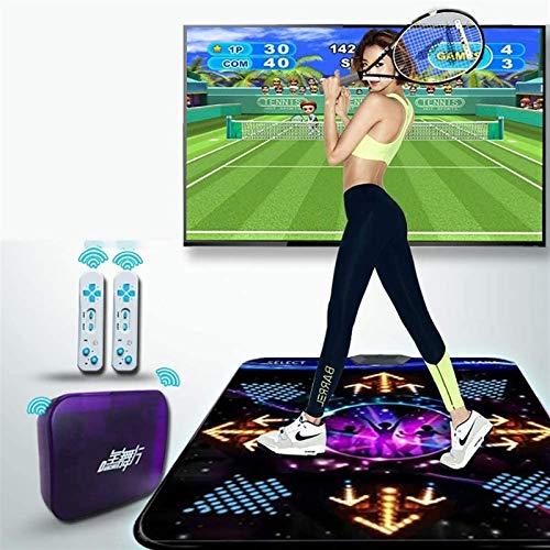 KTYX Dance Pad para Niños Y Adultos - Antideslizante Durable Alfombra de Baile - Alfombra Baile Individual Inalámbrico HD + 2 Controles Remotos - Juego de Sentido Plug and Play para PC TV
