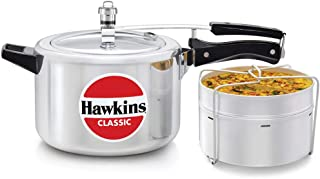 Hawkins CL51 Pressure Cooker, 5 L WITH SEPERATOR, Silver