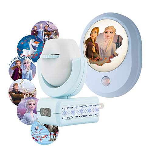 Disney Frozen 2 MySelect Motion Sensing Night Light + Projectables 6-Image Night, Collector's Edition, Dusk to Dawn, Plug-in, UL-Listed, Ideal for Bedroom, Nursery, Bathroom