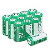 【1500 mAh hohe Kapazität】 12er-Pack CR123A 3 Volt Lithium-Batterien mit 1500 mAh Kapazität - Diese Batterien halten mehr als 3-5 mal als normale Alkaline-Batterien. BITTE BEACHTEN: Diese Batterien sind NICHT WIEDERAUFLADBAR und können NICHT mit Arlo ...