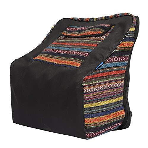 Akkordeon Rucksack, 19.9x17.8x8.3in Akkordeon Gig Bag Hochwertiges, verschleißfestes Tuch gepolstert für 48 Bässe