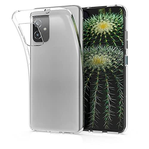 kwmobile Cover Compatibile con ASUS Zenfone 8 - Custodia Morbida in Silicone TPU - Crystal Case Custodia Flessibile - Trasparente