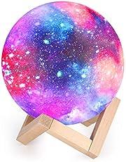 15cm Maan Lamp Nacht Lamp 3D Moonlight, 16 Kleur LED RGB Sterren Sky Moonlight Night Light Slaapkamer Decor Moon Light USB Load Mood Light for Baby Kids Birthday Lover