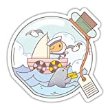 Guinea Pig and Narwhal Adventure Vinyl Sticker for Tumbler or Laptop