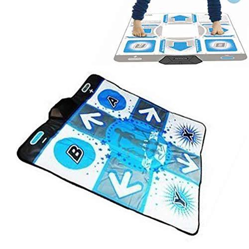 Szlsl88 Dancing Pad para Wii, Juego Baile Danza Revolution Tapete, Anti Deslizante Pie Estampado Danza Manta para Wii