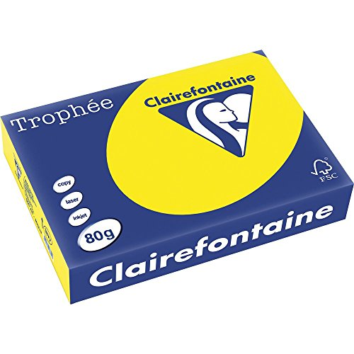 Clairefontaine Trophee Papier gelb/1877C DIN A4 kanariengelb 80 g/qm Inh.500