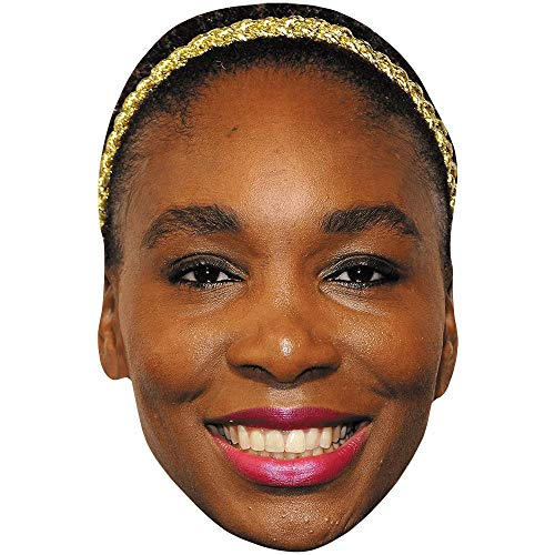 Celebrity Cutouts Venus Williams (Smile) Maske aus Karton