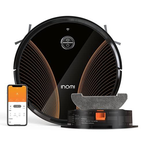 INOMI Aspirateur Robot, 2200Pa Robot Aspirateur, Aspirateur et Laveur 2 en 1, Connecté Appli et Alexa, 120mins Autonomie et...