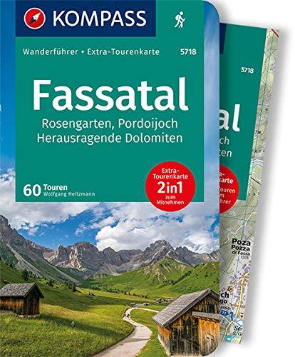 KOMPASS Wanderführer Fassatal, Rosengarten: Wanderführer mit Extra-Tourenkarte 1:50.000, 60 Touren, GPX-Daten zum Download