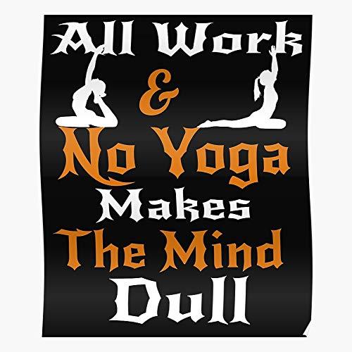 Fitness Exercise Workout Motivation Gym Health Funny Yoga El póster de decoración de interiores más impresionante y elegante disponible en tendencia ahora