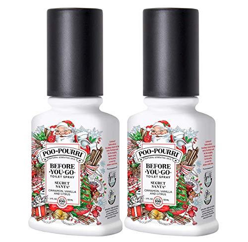 PooPourri Secret Santa 2 Ounce Before You Go Toilet Spray 2 Pack