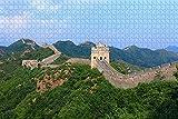China,la Gran Muralla de Beijing 1000 Pieza de Rompecabezas Juego de Puzzle de obras de Arte para Adultos,de Alta Definición de Paisaje Jigsaw Rompecabezas para Adultos Adolescentes Niños de la Famil