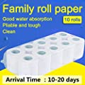 Household Premium 3-Ply Rapid Dissolving Toilet Paper White Smooth Soft,A98-10 Rolls