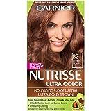 Garnier Nutrisse Ultra Color Nourishing Hair Color Creme, B2 Reddish Brown (Packaging May Vary)