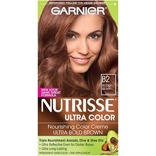 Garnier Nutrisse Ultra Color Nourishing Hair Color Creme, B2 Reddish Brown (Packaging May Vary)