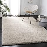 SAFAVIEH Royal Shag Collection RYG117A Non-Shedding Living Room Bedroom Dining Room Entryway Plush 2-inch Thick Area Rug, 8' x 10', Cream