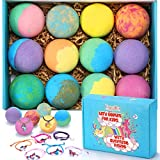 Bath Bombs for Kids with Toys Inside for Girls Boys - XXL Large Size 12 Set Gift Kit, Surprise Unicorn, Handmade Bubble Bath Fizzies Spa Fizz Balls Kit