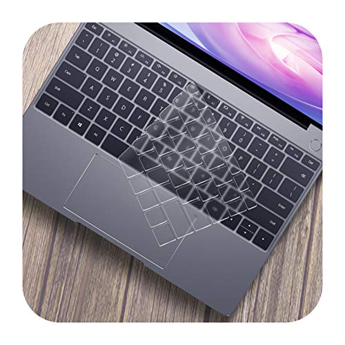 Soft Silicone Keyboard Cover for Huawei MateBook 13 14 X Pro 16.1 2020 Keyboard Film Skin Protector Skin Protector for Honor MagicBook D14 D15-Transparent-Mate D 15 AMD 2020
