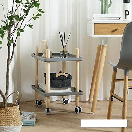 XJL Multifuncional Plegable Escritorio Muebles nórdicos Mesa Auxiliar Moderna Simple extraíble Mesa Estante sofá de la Sala pequeña Mesa Lateral del hogar de la Carretilla Esquina de la Tabla